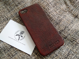 Leather iPhone SE 5s 5 5c case 'Burgundy' - Kaseta