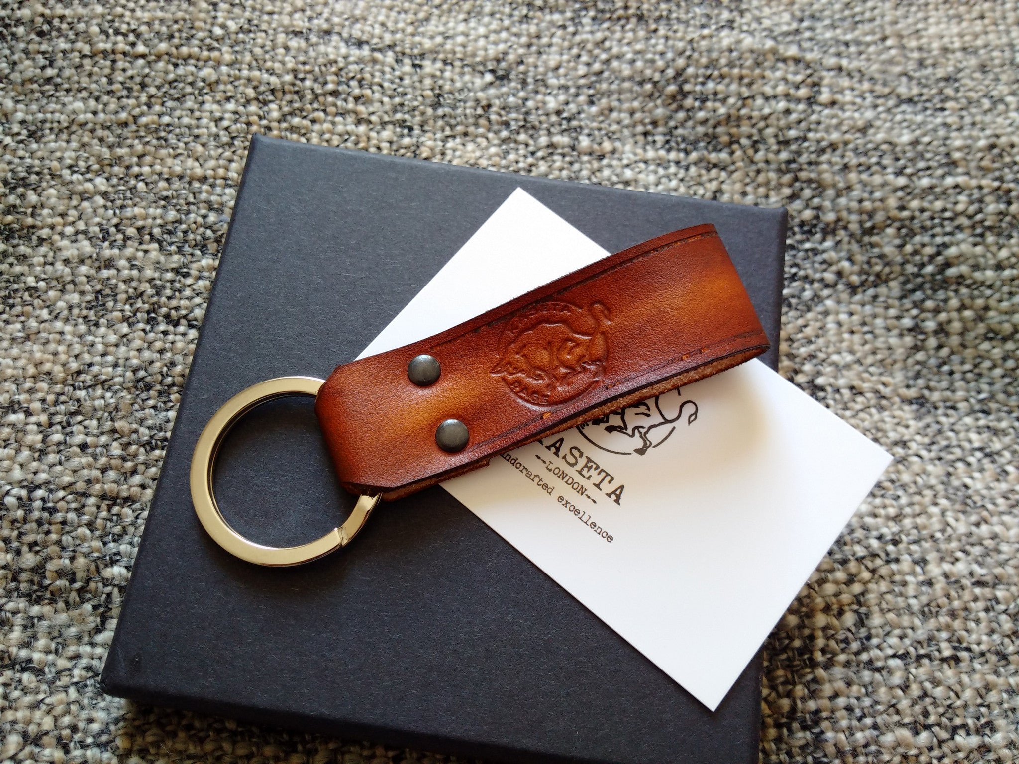 handmade key strap  excellent keystap gift for him  quality key strap  Leather Key Band