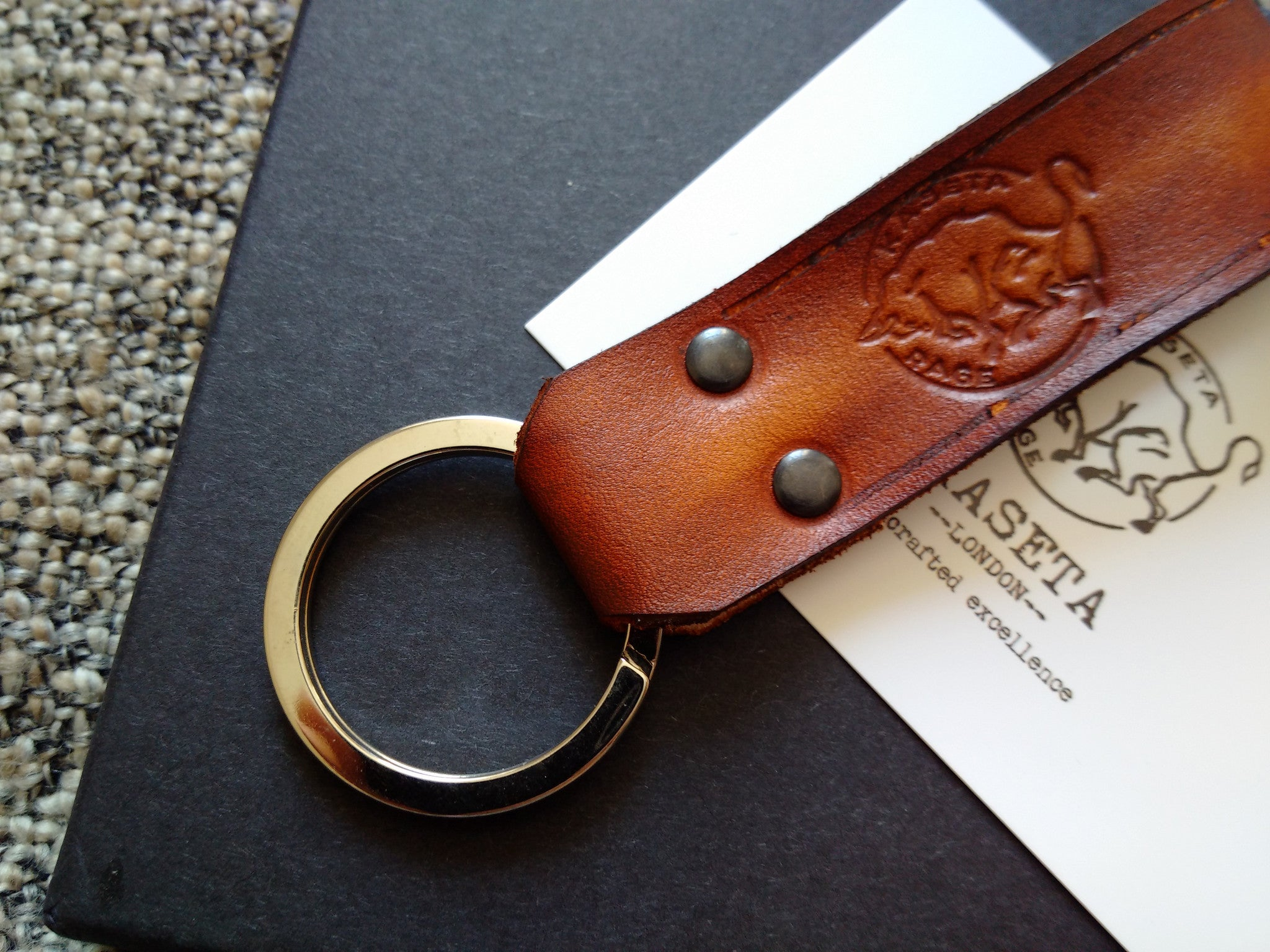 Porte-clés en cuir, leather key ring