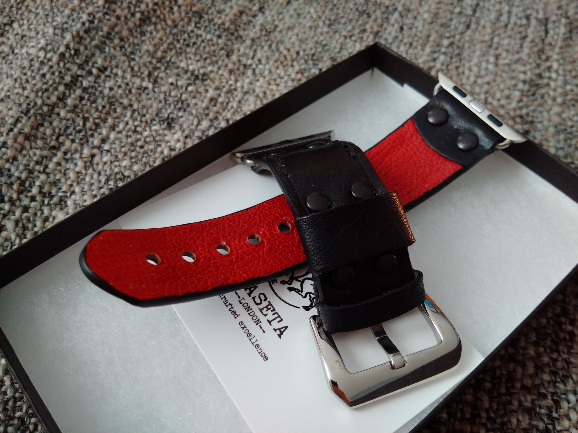 leather watchband, leather watchstrap, apple watchband