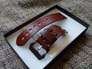 leather watchstrap for apple watch