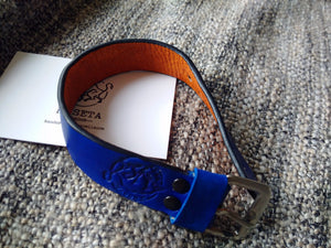 leather two colour bracelet,  cinturino in pelle