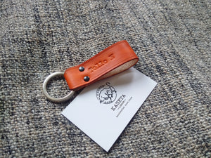 Leather Key Band 'OldBritTan' - Kaseta