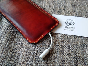 leather pouch 7,  iphone 6 7 leather sleeve with soft inlay, iphone 6 pouch