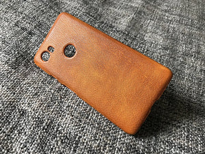 Google Pixel 3, Google Pixel 2 XL Leather Case 'OldBrown' - Kaseta