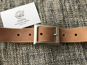 leather woman ladies unisex men belt - kaseta