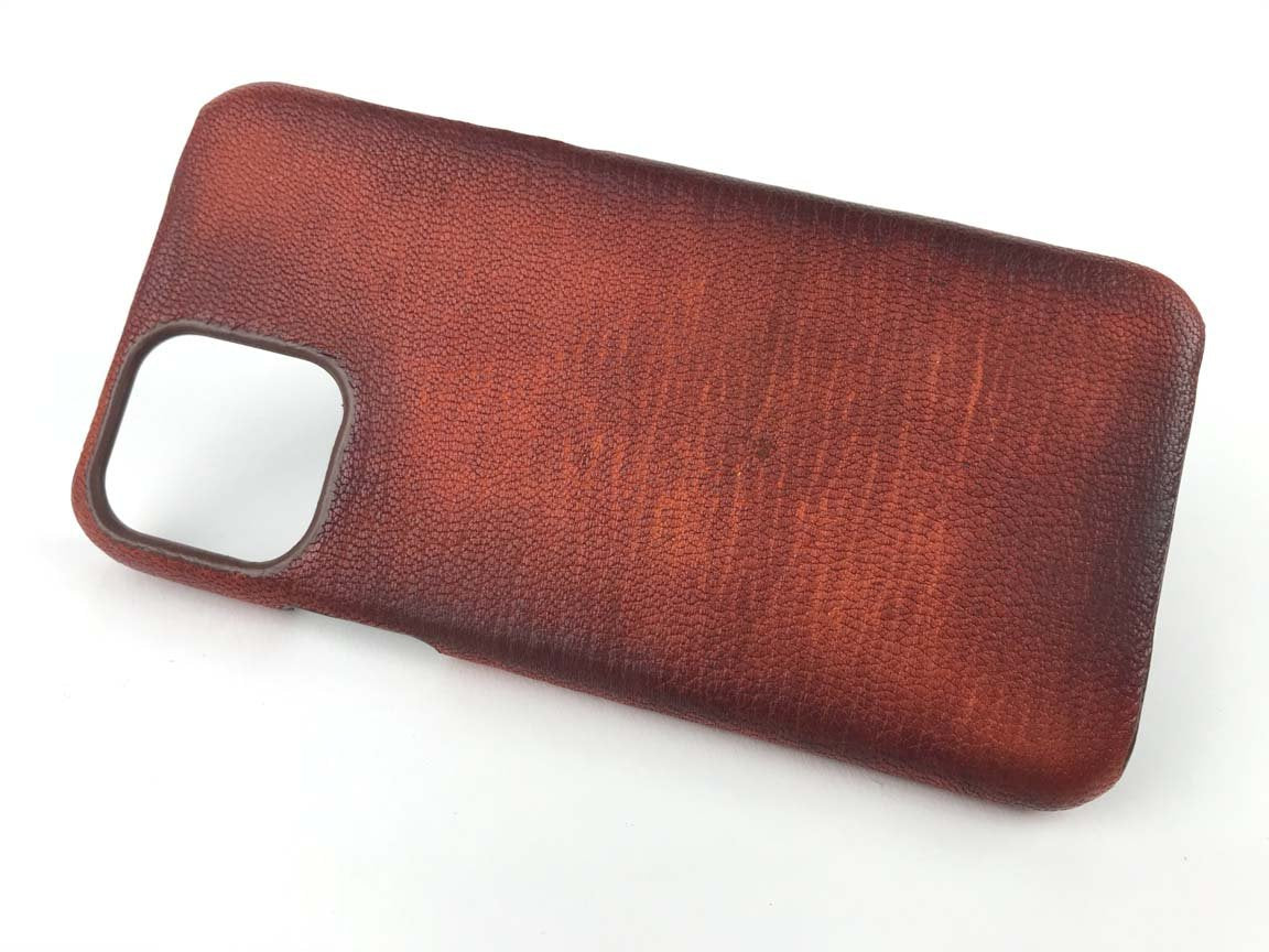 iphone 11 pro max leather case cover shell brown - kaseta