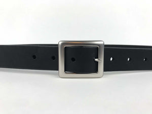 black leather belt woman ladies men unisex