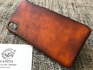 iphone xr leather case, iphone xs max, iphone xs brown shell by kaseta