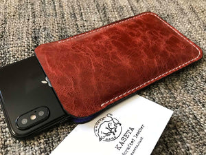 red leather iphone x xs case sleeve iphone 7 8 pouch