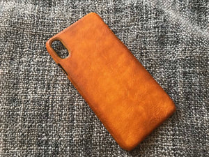 iphone xr leather case, iphone xs max, iphone xs tan shell by kaseta