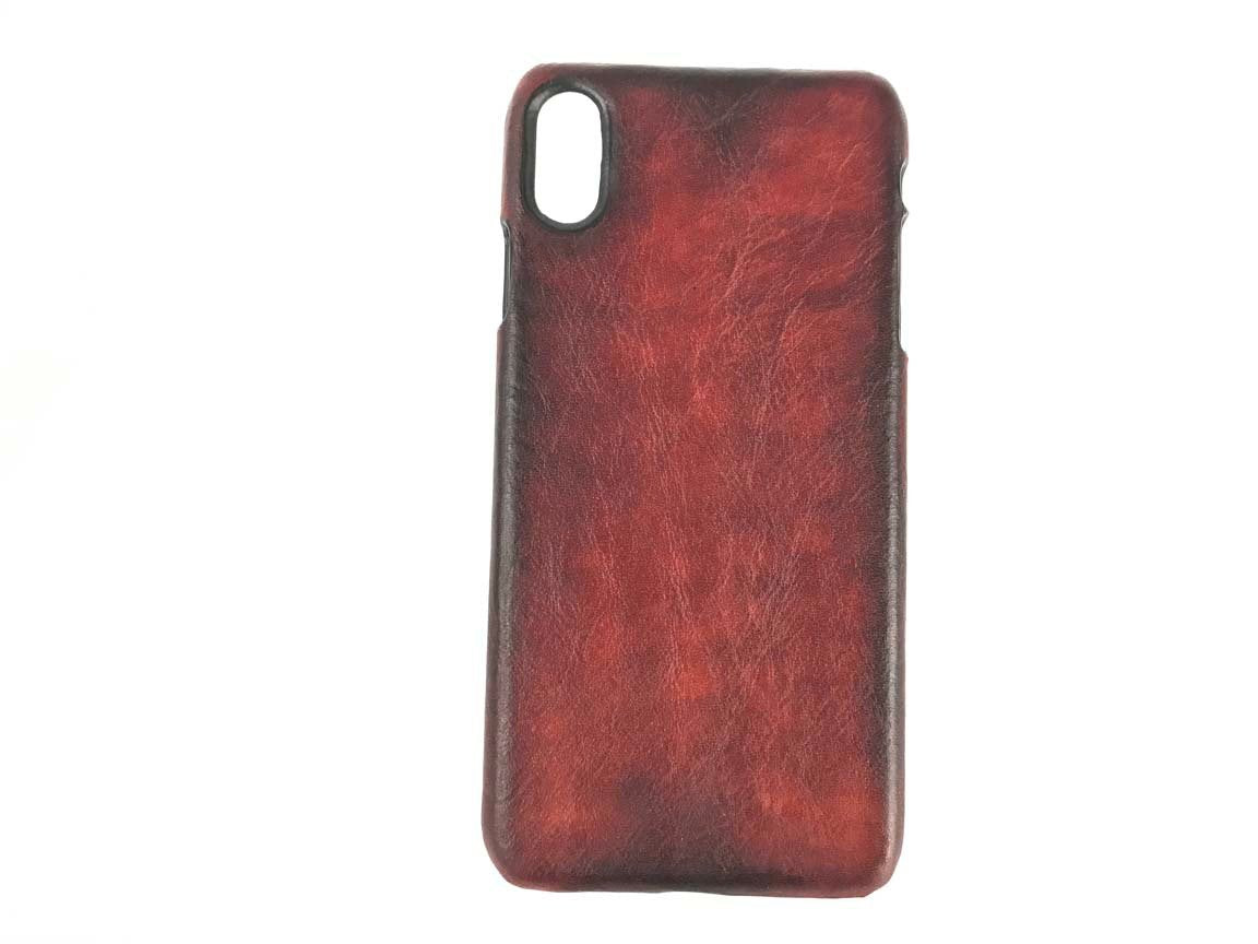 iphone xr leather cover case, iphone xs max, iphone xs mahogany shell by kaseta