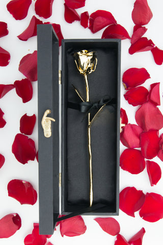 VALENTINE'S DAY SPECIAL: Gold Dipped Organic Rose - Firefly Marketplace