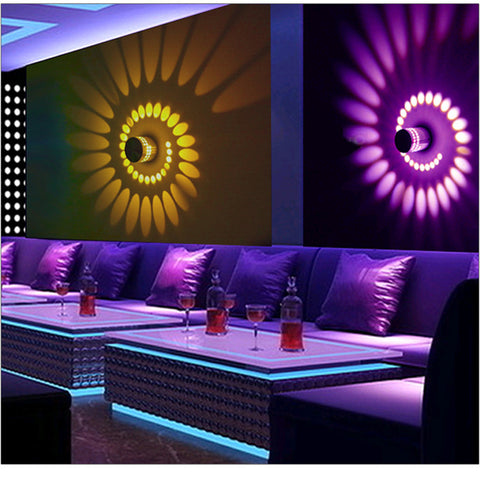 Spiral LED Wall Lamp