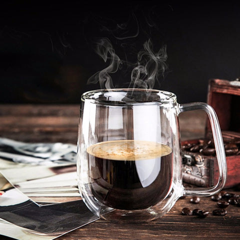 Double Wall Clear Glass Mug - Firefly Marketplace