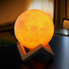Image of 3D Lunar Night Light With Wood Stand - Firefly Marketplace