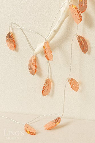 Copper Feather LED String Lights - Firefly Marketplace