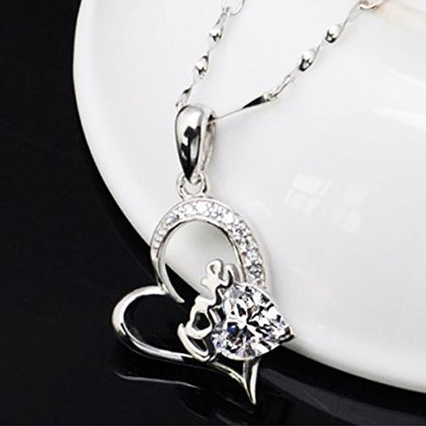 Love Heart Pendant And Necklace
