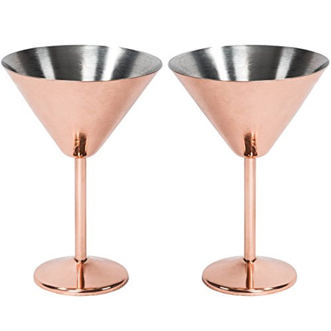 Rose Gold Martini Glasses & Cocktail Shaker Set - Firefly Marketplace