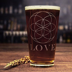 Love: Your Flower of Life Pint Glass
