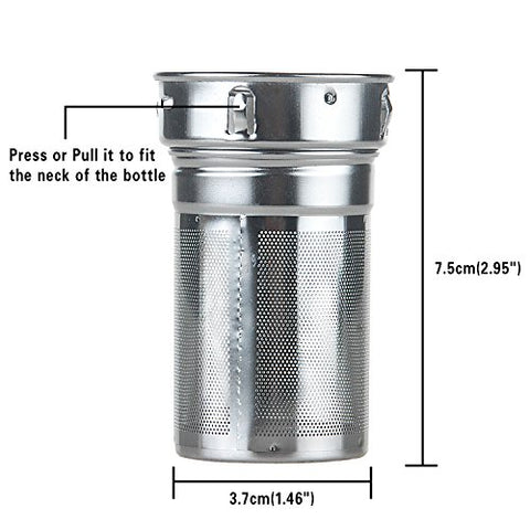 Tea Infuser Bottle with Neoprene Sleeve