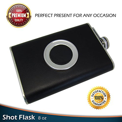 Flask Set: w/Built-in Collapsible Shot Glass + Bonus Gift: Flask Funnel - Firefly Marketplace