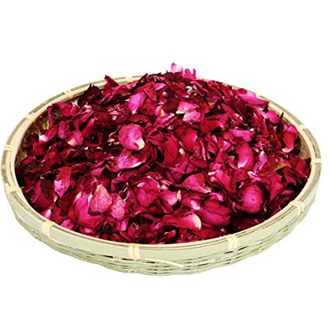 dried natural real red rose flower petals - Firefly Marketplace