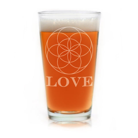 Flower of Life Pint Glass - Firefly Marketplace