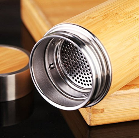 Bamboo Tumbler w/Removable Tea Infuser - Firefly Marketplace
