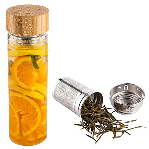 Tea Infuser Bottle with Neoprene Sleeve - Firefly Marketplace
