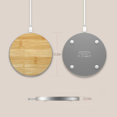 Bamboo Wireless Smartphone Charging Pad - Firefly Marketplace