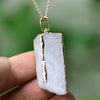 Image of Golden Accents Agate Necklace - Firefly Marketplace