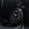Image of Vintage Black Steampunk Pocket Watch - Firefly Marketplace