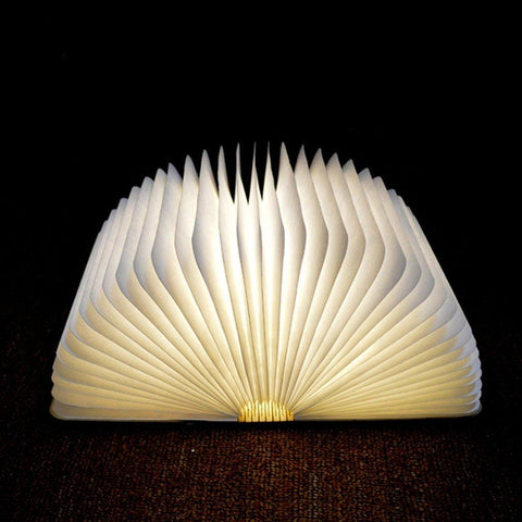 LED Foldable Wooden Book Lamp - Firefly Marketplace