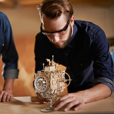Steampunk 3D Submarine Puzzle & Music Box