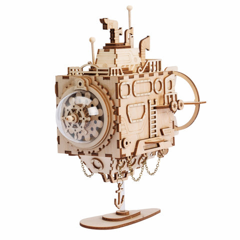 Steampunk 3D Submarine Puzzle & Music Box - Firefly Marketplace