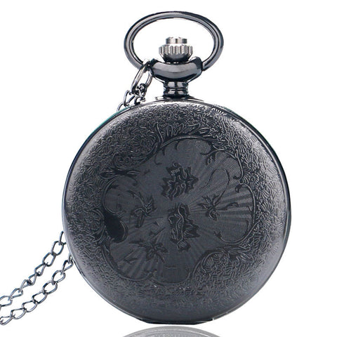 Vintage Black Steampunk Pocket Watch - Firefly Marketplace