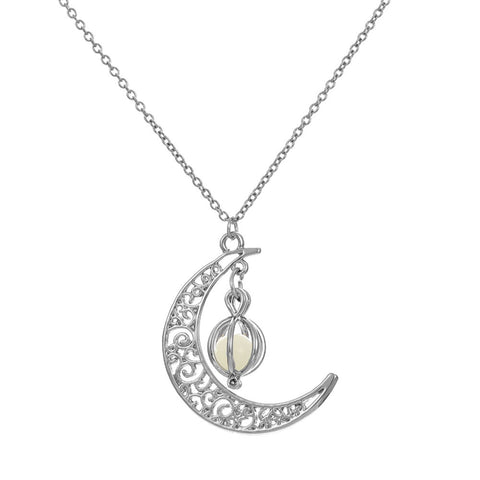 Luminous Moon Necklace - Firefly Marketplace