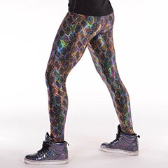 Animal Print Meggings USA Made Men's Leggings: Fun 80's Costume Rave Gear - Firefly Marketplace