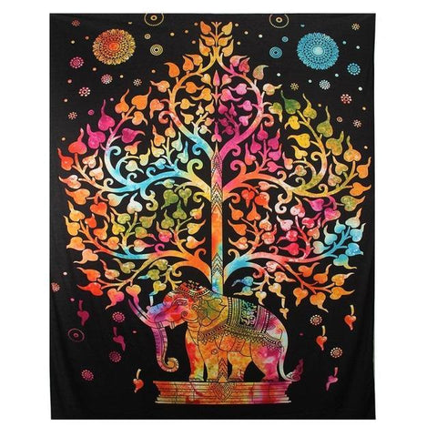 Indian Elephant Mandala Tapestry - Firefly Marketplace