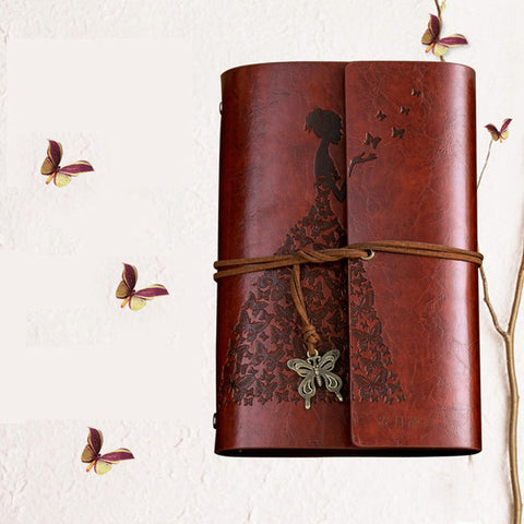 Madam Butterfly Leather Journal - Firefly Marketplace