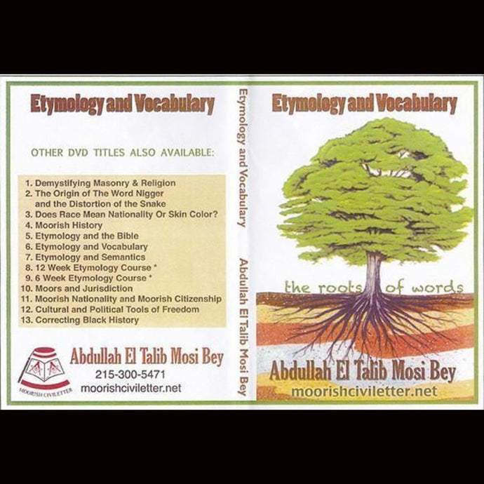 Abdullah Bey Etymology And Vocabulary Dvds & Blu-Ray Discs