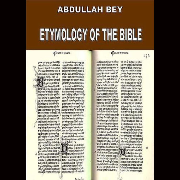 Abdullah Bey Etymology Of The Bible Dvds & Blu-Ray Discs