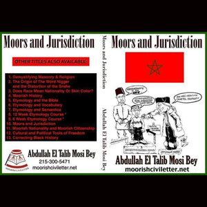 Abdullah Mosi Bey Moors And Jurisdiction Dvds & Blu-Ray Discs