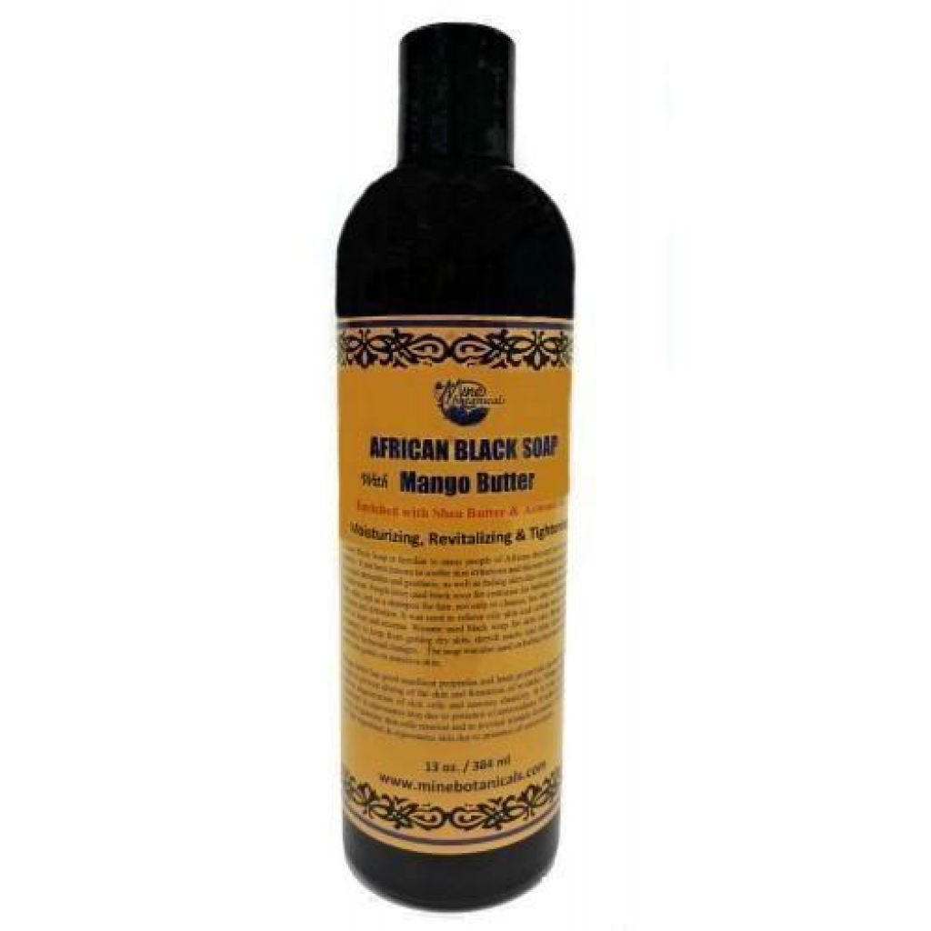 African Black Soap With Mango Butter Liquid Black And Nobel