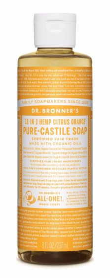 18 in 1 Hemp Citrus Orange Pure Castile Oil