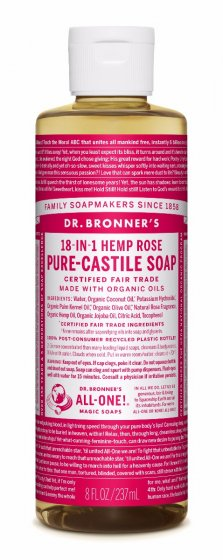 18 in 1 Hemp Rose Pure Castile Soap