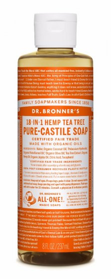 18 in 1 Hemp Tea Tree Pure Castile Soap