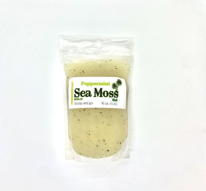 Peppermint Sea Moss Gold Gel