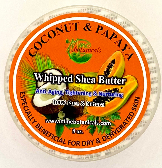 Coconut Papaya Shea Butter 8 oz